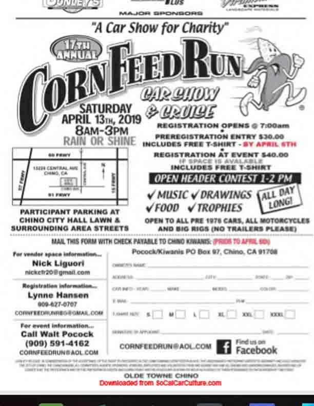 Chino Corn Feed Car Show @ Chino, CA | Chino | California | United States