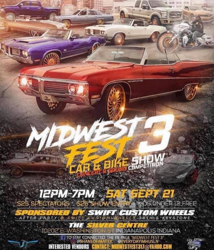 Midwestfest 3 Car, Bike Show & Sound Competition @ The Silver Centre/Silver Spoon Events | Indianapolis | Indiana | United States