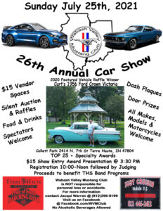 Wabash Valley Mustang Club 26th Annual Car Show @ Collett Park | Terre Haute | Indiana | United States