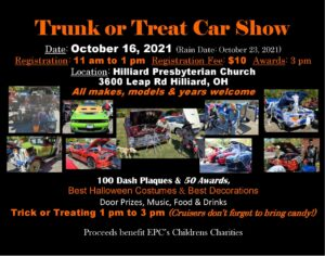 Trunk or Treat Car Show @ Hilliard Presbyterian Church | Hilliard | Ohio | United States