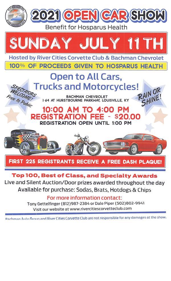 River Cities Corvette Club 2021 Open Car Show @ Bachman Chevrolet | Louisville | Kentucky | United States