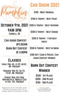 Cordell Pumpkin Festival and Car Show @ New Cordell | Oklahoma | United States